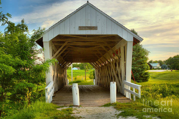 Photograph - Late Afternoon At The Imes Covered Bridge by Adam Jewell