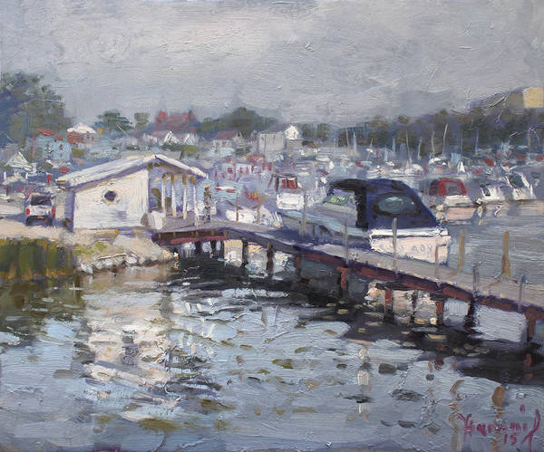 Lake House Painting - Late Afternoon At Tonawanda Harbor by Ylli Haruni