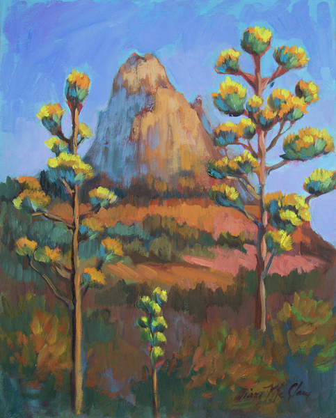 Painting - Late Afternoon Century Plants by Diane McClary