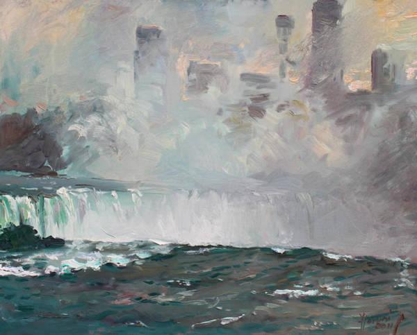 Niagara Painting - Late Afternoon In Niagara Falls by Ylli Haruni