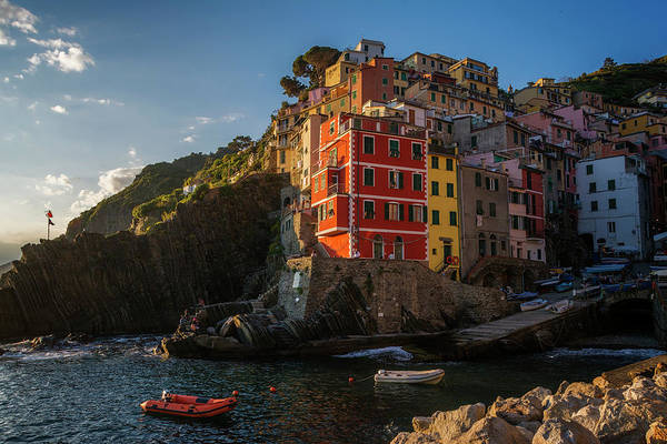 Photograph - Late Afternoon Riomaggiore Cinque Terre Italy by Joan Carroll