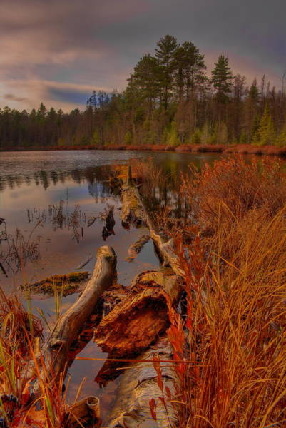 Photograph - Late Afternoon Sunset Over Hawk Lake by Dale Kauzlaric