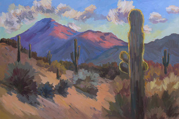 Late Afternoon Wall Art - Painting - Late Afternoon Tucson 2 by Diane McClary