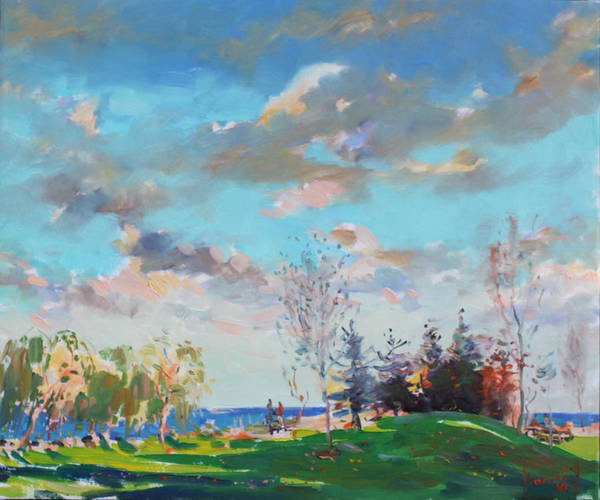 Cloud Sky Painting - Late Afternoon by Ylli Haruni