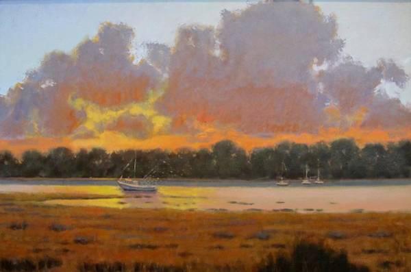 Jekyll Island Painting - Late Dinner by George Netherton