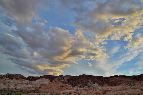 Photograph - Late Evening Clouds Over Valley Of Fire State Park by Ray Mathis