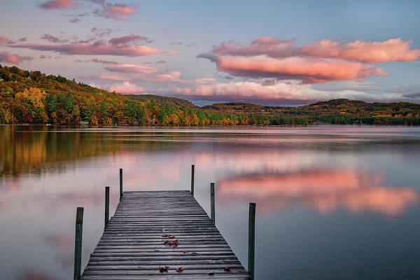 Photograph - Late Fall Sunrise On Crystal Lake by Darylann Leonard Photography