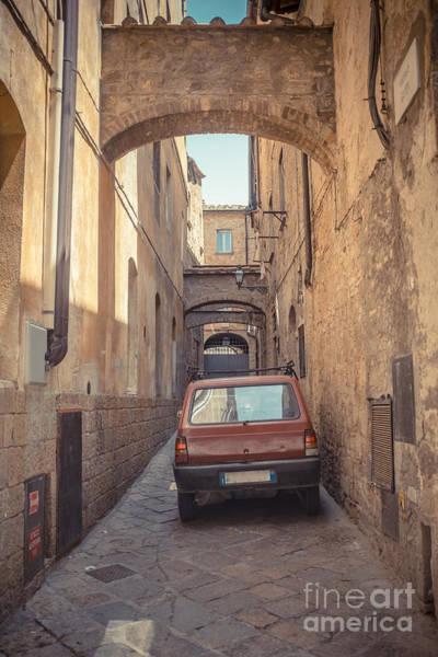 Photograph - Late Model Car In Ancient Alley by Edward Fielding