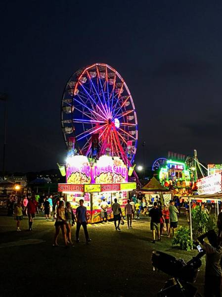 Timonium Wall Art - Photograph - Late Night On The Midway by Doug Swanson