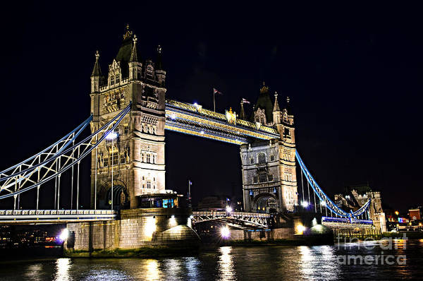 Photograph - Late Night Tower Bridge by Elena Elisseeva