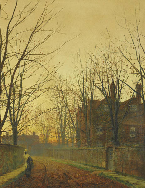 Painting - Late October by John Atkinson Grimshaw