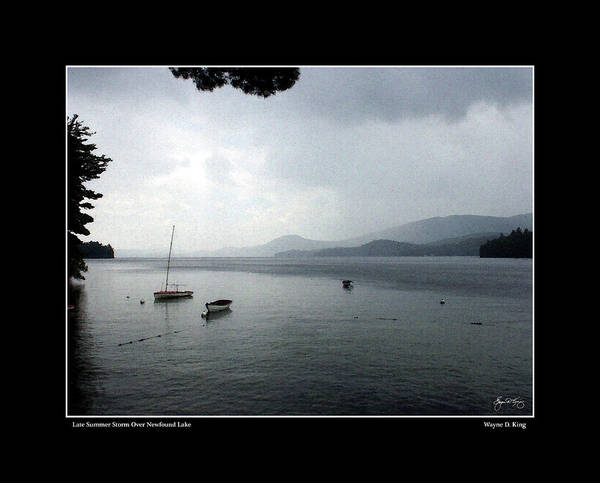 Photograph - Late Summer Storm Over Newfound Lake Poster by Wayne King