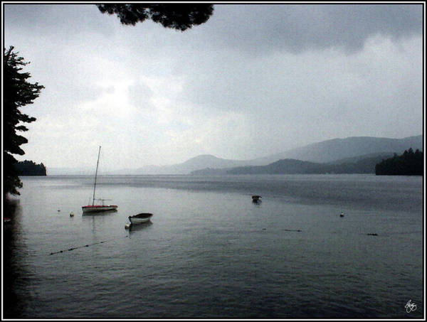 Photograph - Late Summer Storm Over Newfound by Wayne King