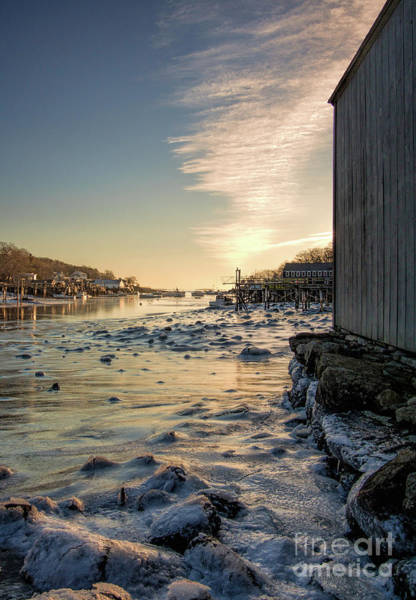 Photograph - Late Winter Dawn, New Harbor, Bristol, Maine  -81386-81389 by John Bald