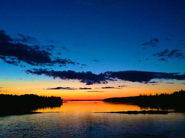 Photograph - Later Sunset From Deer Isle by Polly Castor