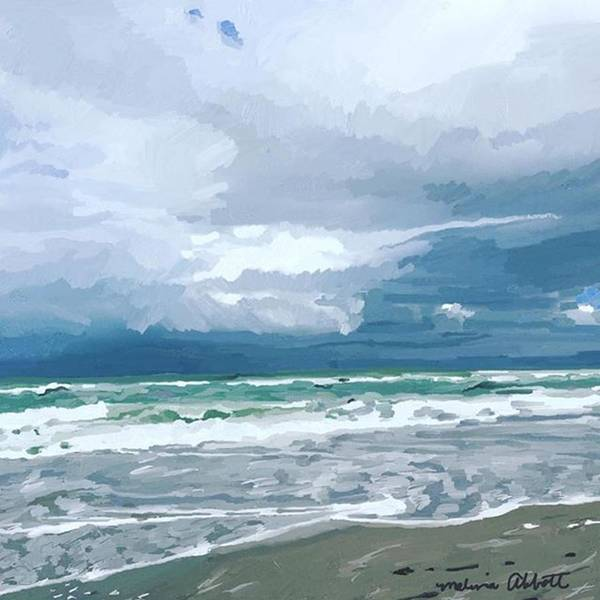 Photograph - Latest Digital Painting Of Beach In by Melissa Abbott