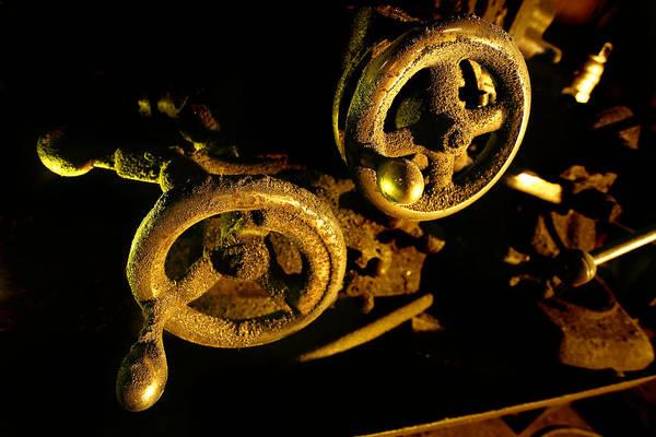Photograph - Lathe Handwheels by David Andersen