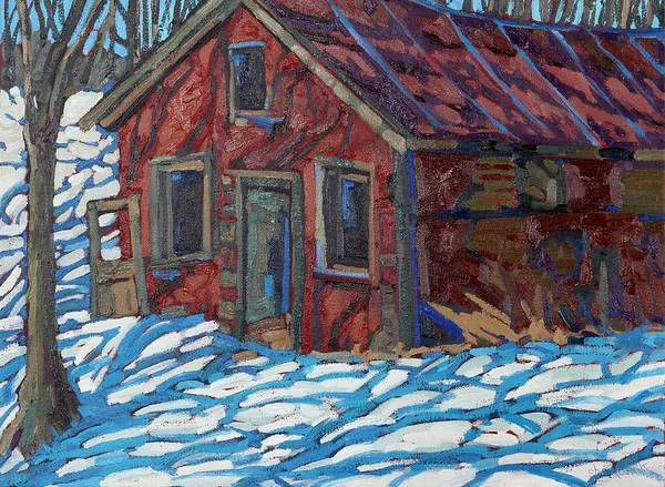 Long Shadow Painting - Latimer's Shack by Phil Chadwick