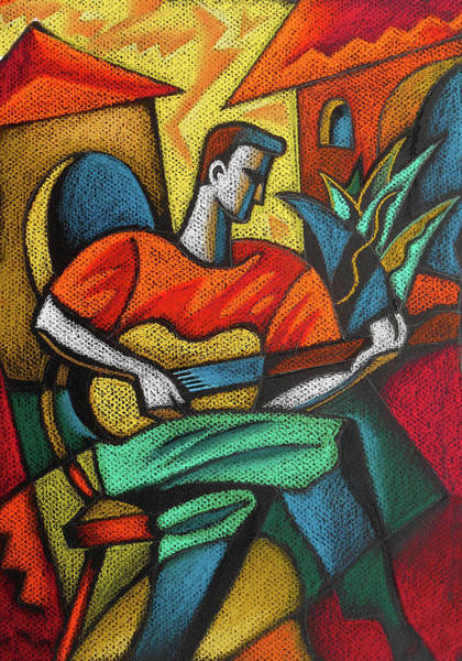 Wall Art - Painting - Latin Guitar Music by Leon Zernitsky