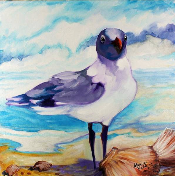 Painting - Laughing Gull by Marcia Baldwin