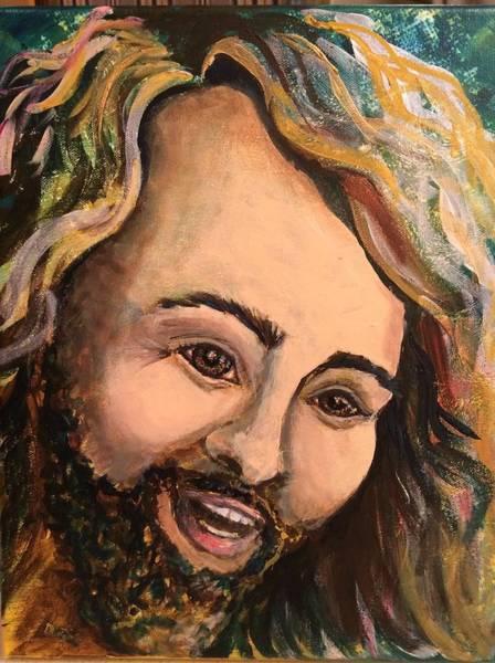 Laughing Jesus Art Print