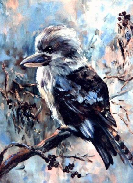 Painting - Laughing Kookaburra by Ryn Shell