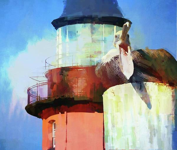 Photograph - Laughing Lighthouse Pelican by Alice Gipson