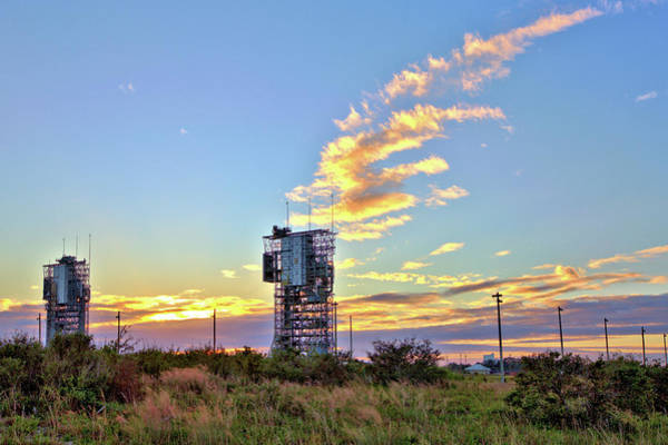 Photograph - Launch Complex 17 At Sunset by Gordon Elwell