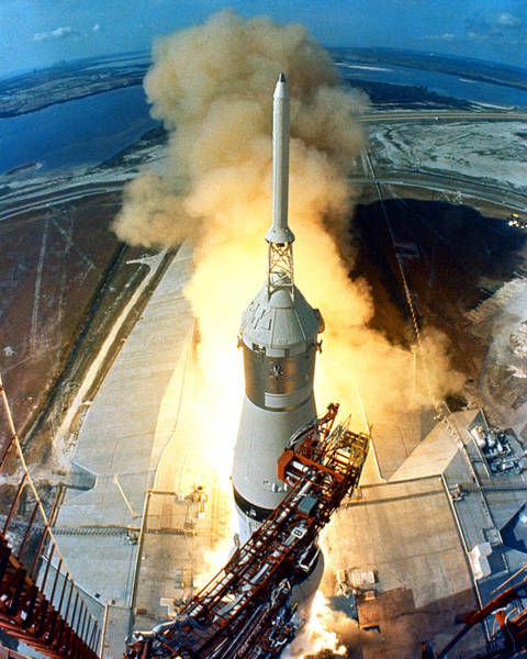 Photograph - Launch Of Apollo 11 by Artistic Panda