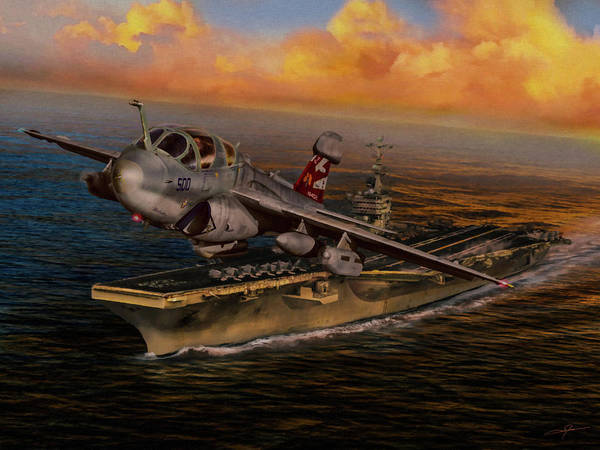 Usn Digital Art - Launch The Prowler by Dale Jackson