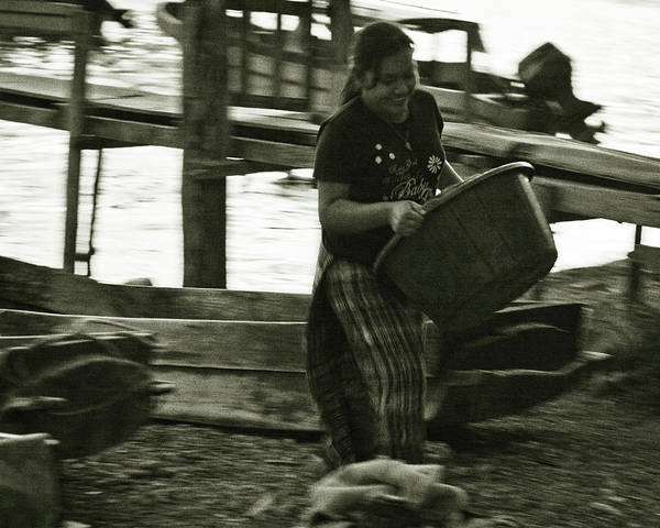 Photograph - Laundry By The Lake In Guatemala by Tatiana Travelways