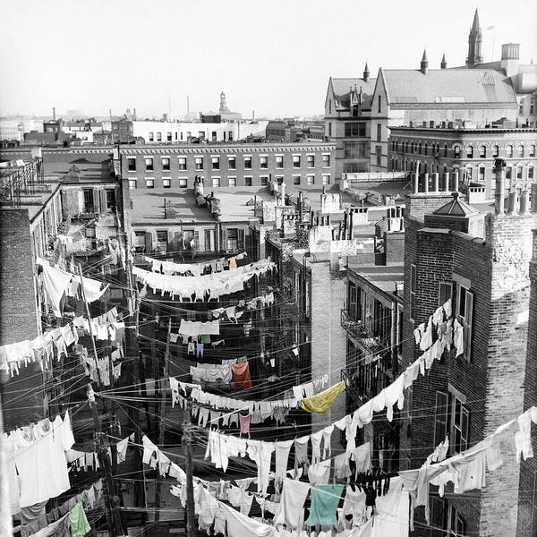 Tenement Photograph - Laundry Day by Andrew Fare