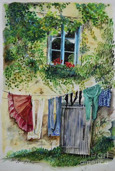 Painting - Laundry Day In France by Jan Dappen