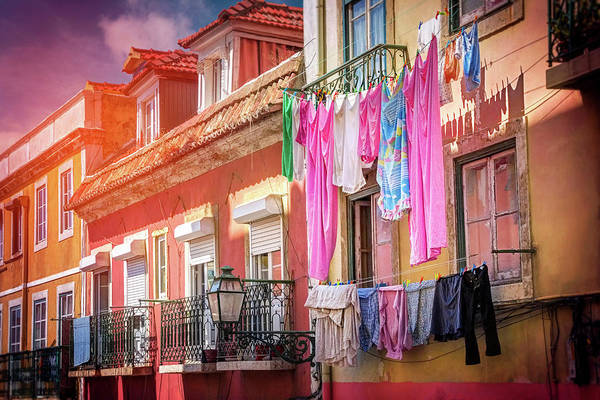 Balcony Photograph - Laundry Day In Lisbon Portugal  by Carol Japp
