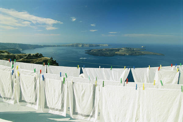 Clothesline Photograph - Laundry Hanging Out To Dry by Michael Melford