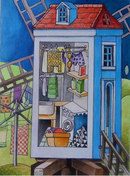 Utility Painting - Laundry Mill by Neal Winfield