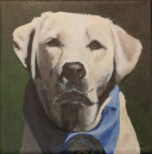 Service Dog Painting - Laura by Carol Russell