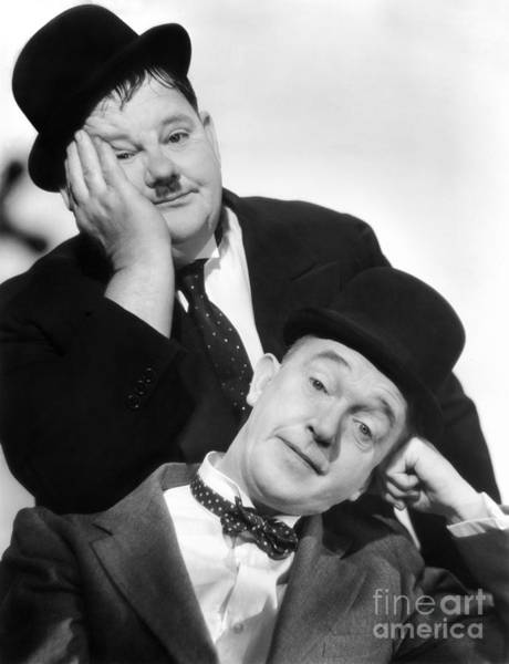 Wall Art - Photograph - Laurel And Hardy, 1939 by Granger