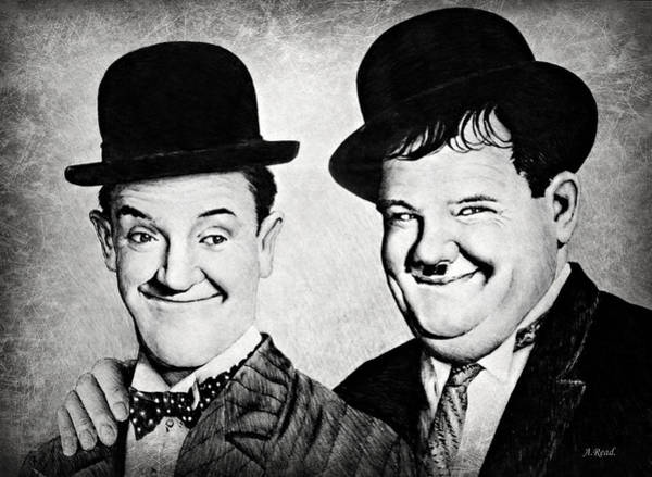 Wall Art - Drawing - Laurel And Hardy My Pal by Andrew Read