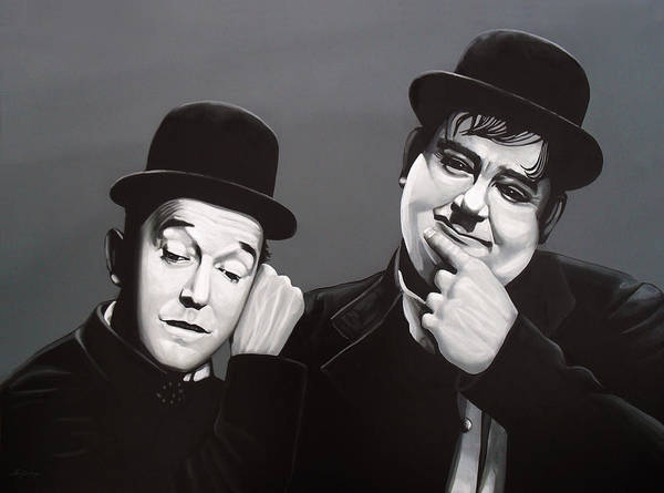 Wall Art - Painting - Laurel And Hardy by Paul Meijering
