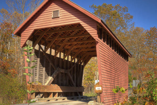 Photograph - Laurel Creek Or Lillydale Covered Bridge by Jack R Perry