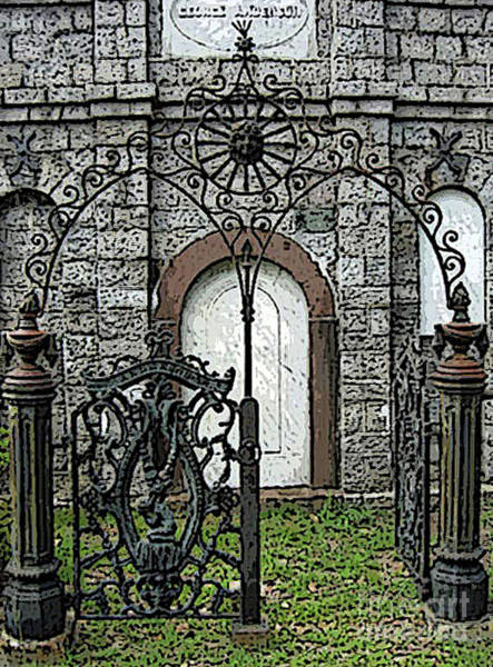 Laurel Grove Cemetery Photograph - Laurel Grove Mausoleum #1 by Lisa Erin Brown