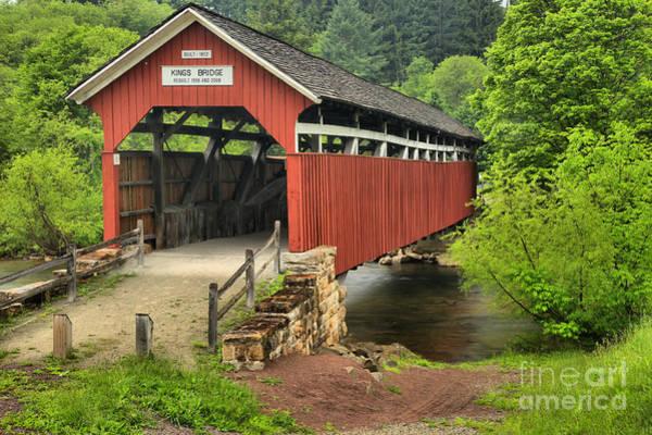 Laurel Hill Creek Photograph - Laurel Highlands Kings Covered Bridge by Adam Jewell