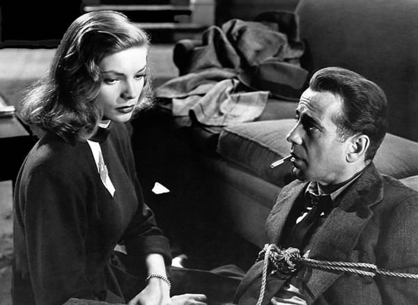 Lauren Bacall Humphrey Bogart Film Noir Classic The Big Sleep 1 1945-2015 Art Print