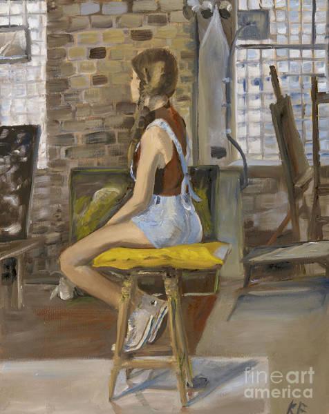 Plaits Painting - Lauren by Katherine Farrell