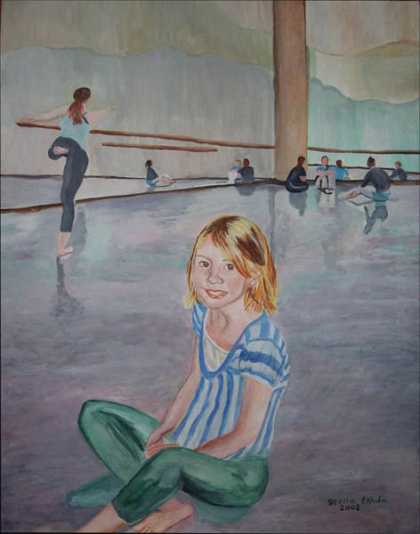 Painting - Lauren's Dance Class by Stella Sherman