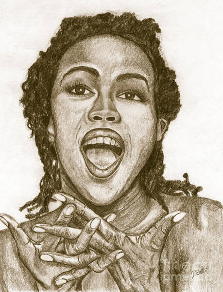 Sepia Painting - Lauryn Hill by Debbie DeWitt