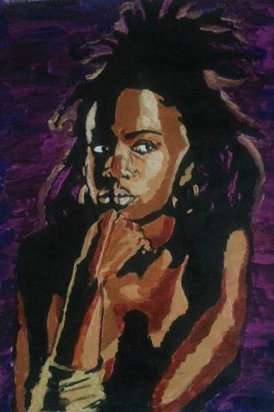 Painting - Lauryn Hill by Rachel Natalie Rawlins