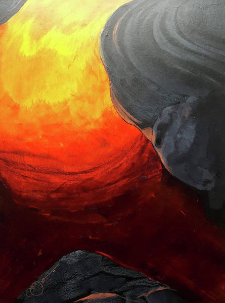 Painting - Lava 2 by Lucas Boyd