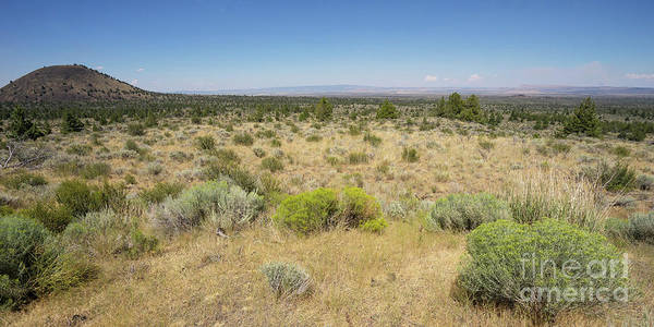 Lava Lakes Photograph - Lava Beds National Monument California Dsc5317 Panorama by Wingsdomain Art and Photography